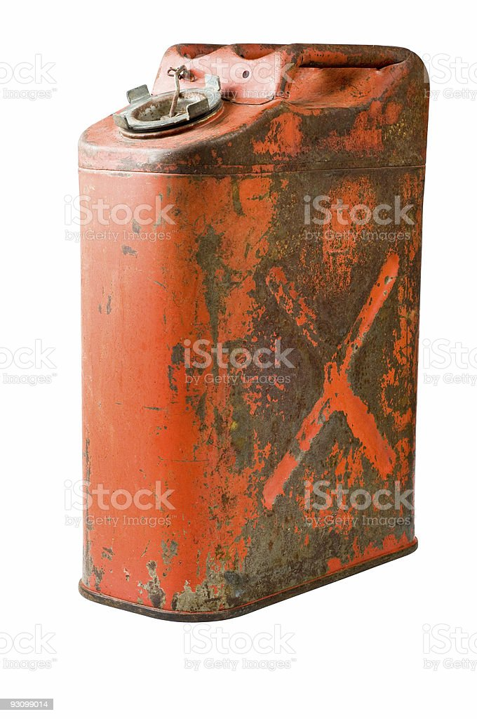 Old five gallon gas can, US military style royalty-free stock photo