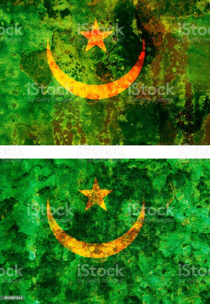 old flag of mauritania stock photo