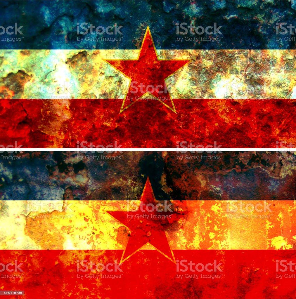 Alte Jugoslawien Karte.Alte Flagge Jugoslawiens Stockfoto Und Mehr Bilder Von Alt