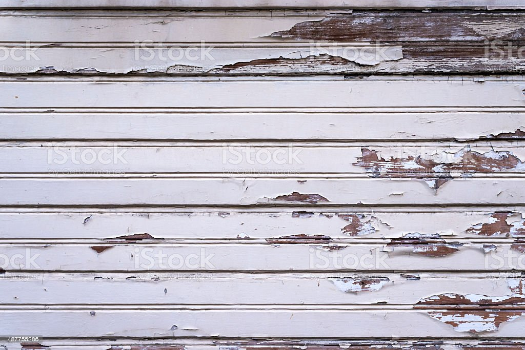 Old flaking weatherboards - Photo