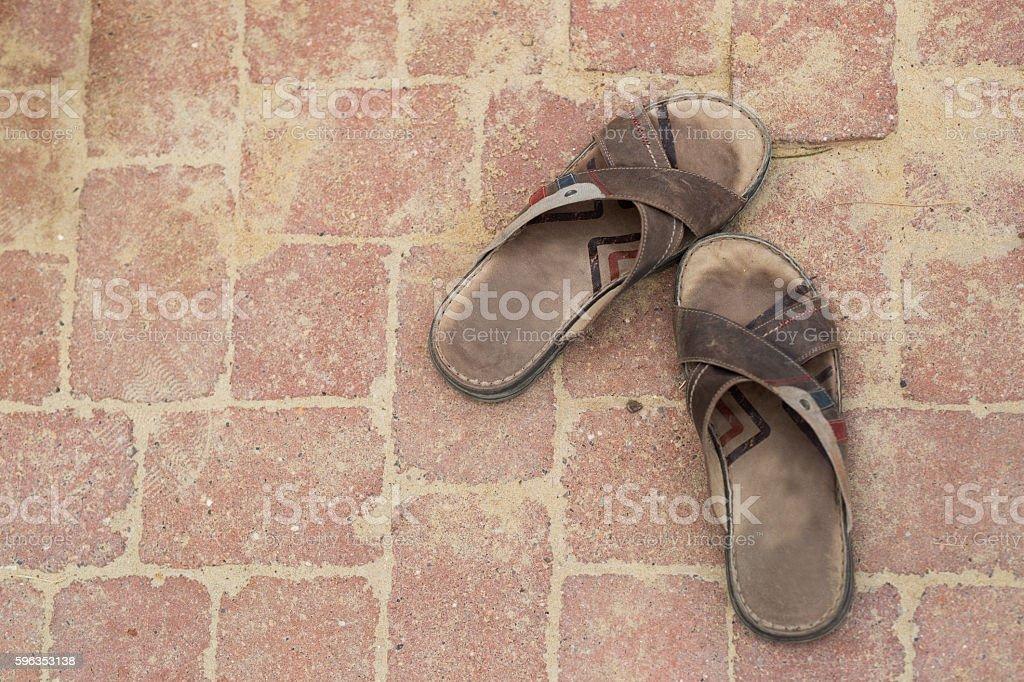 Old Flip Flops royalty-free stock photo