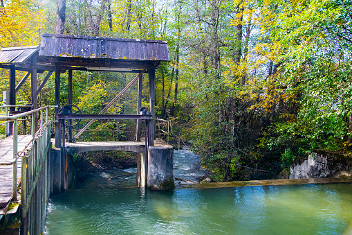 old floodgate on a small river in Carinthia, Austria