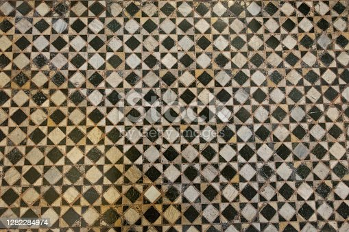 Old floor texture in Florence, Italy
