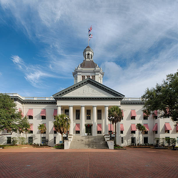 Old Florida Capitol stock photo