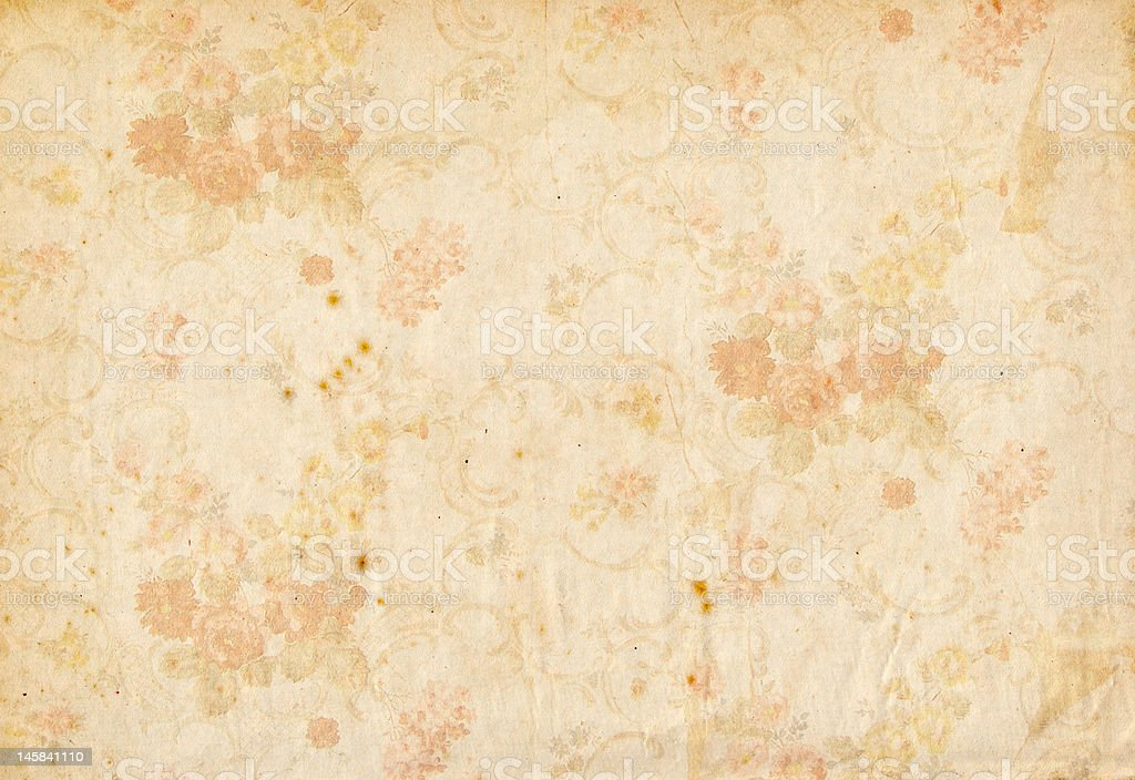old flower pattern paper royalty-free stock photo