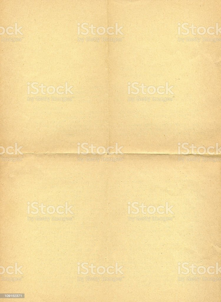 old folded paper royalty-free stock photo