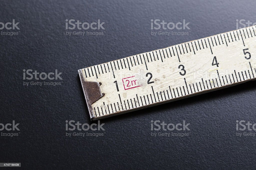 Old folding ruler stock photo
