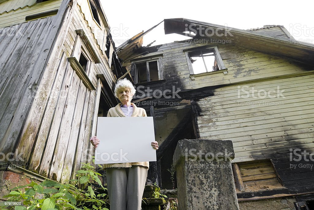 old folk difficulties royalty-free stock photo