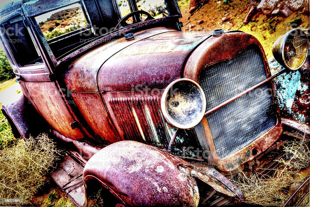 HDR Old Ford Car stock photo