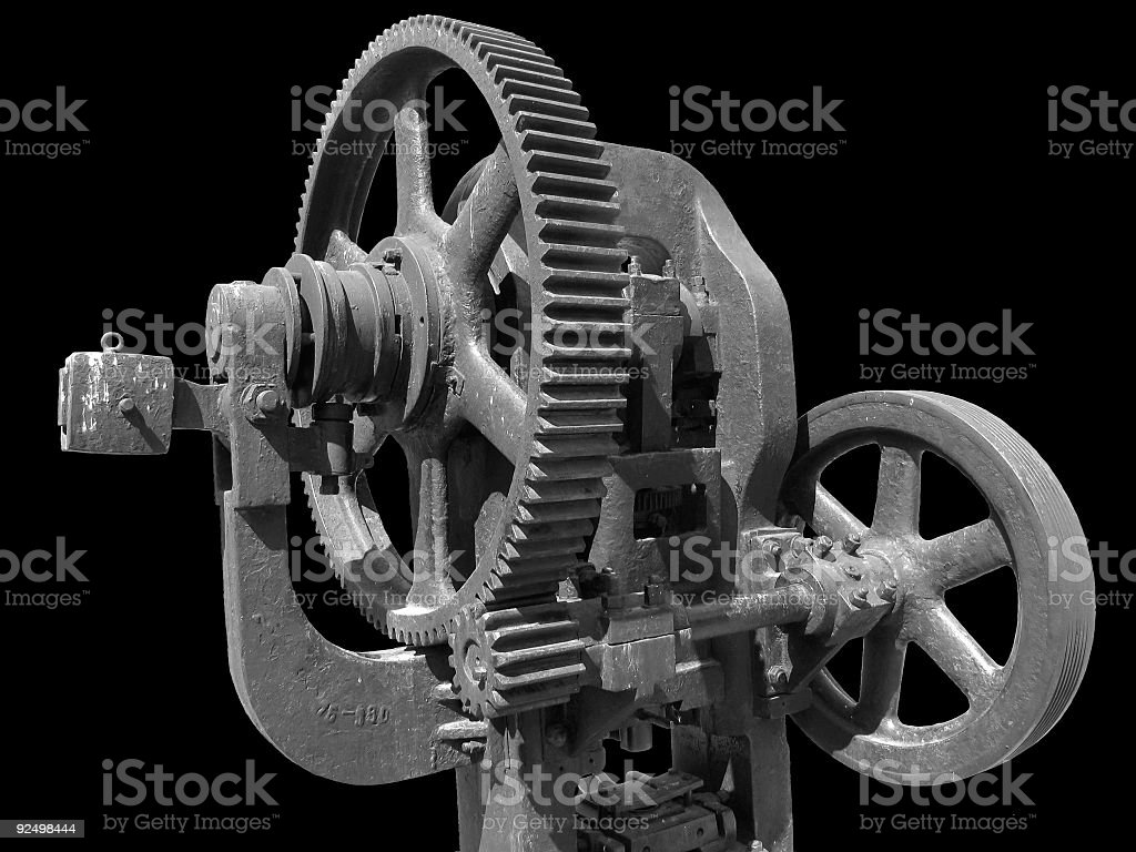 Old forging press royalty-free stock photo