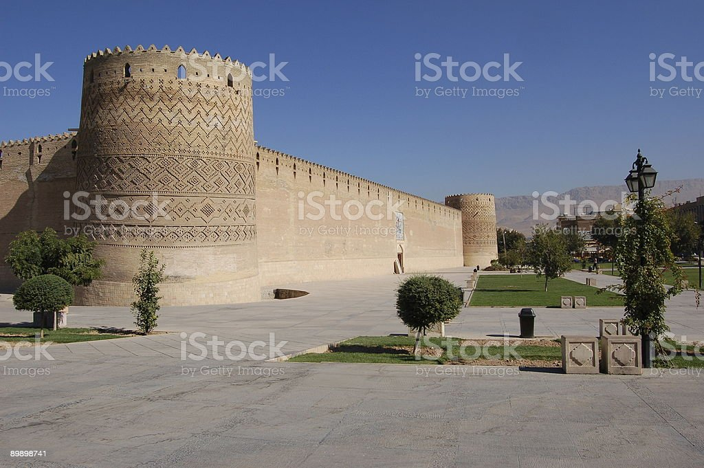 Old fort in Shiraz royalty-free stock photo