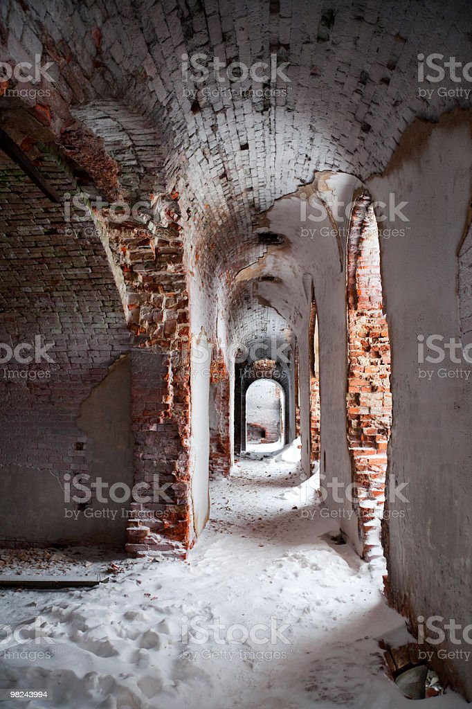 Old fortification interior royalty-free stock photo