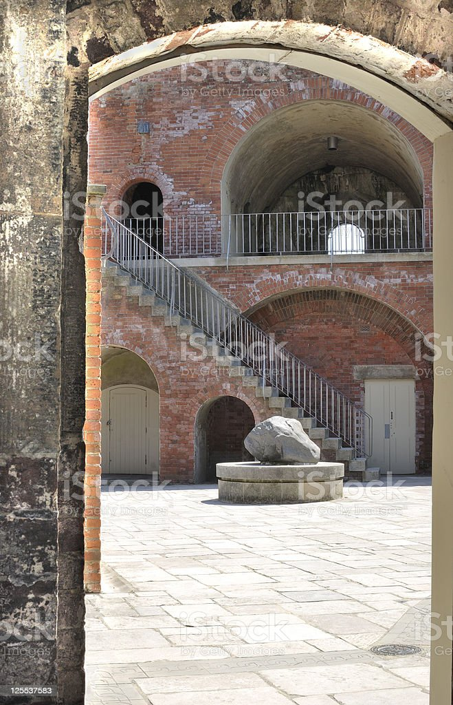 Old fortifications in Portsmouth. UK stock photo