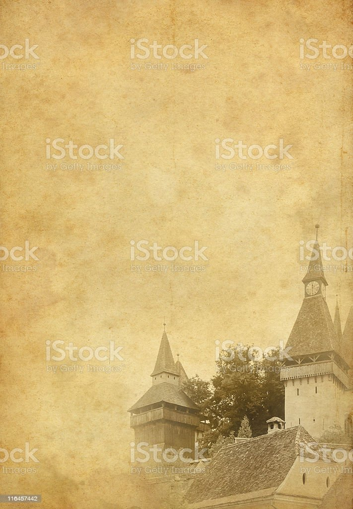 Old fortified church in Transylvania royalty-free stock photo
