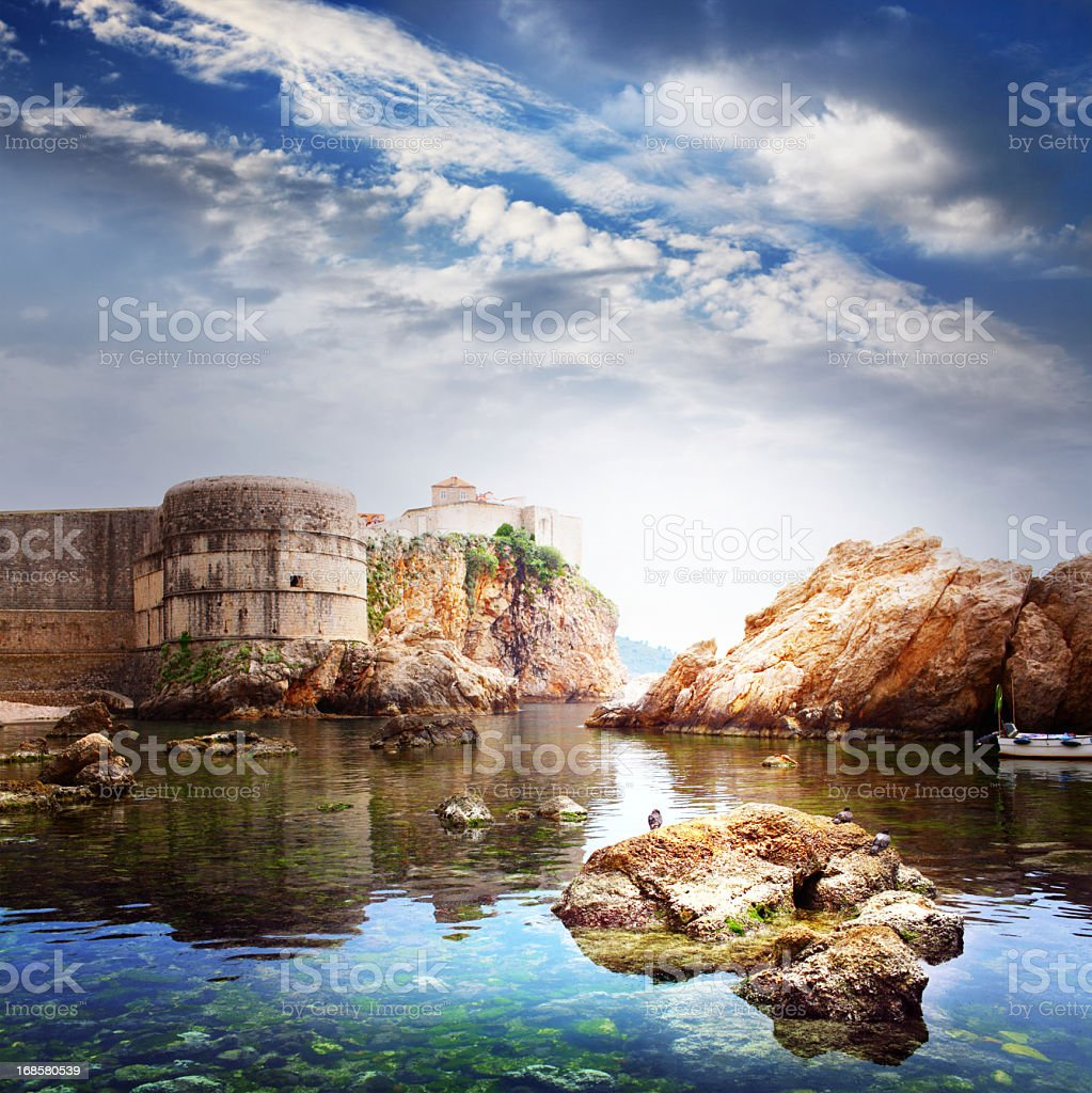 Old fortress, Dubrovnic, Croatia, Europe stock photo