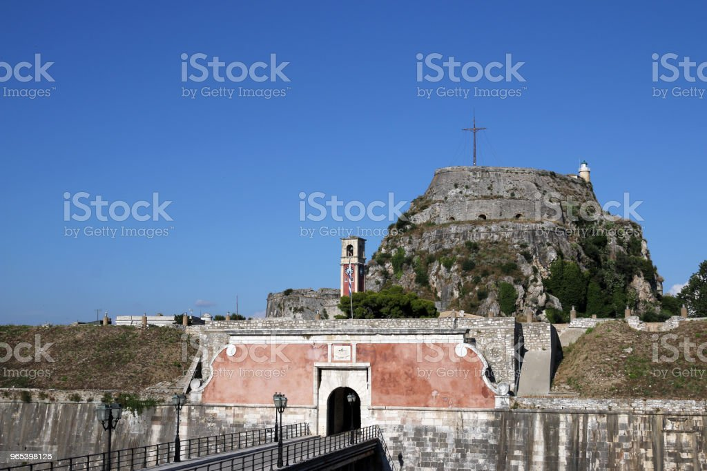 old fortress entrance Corfu Greece royalty-free stock photo
