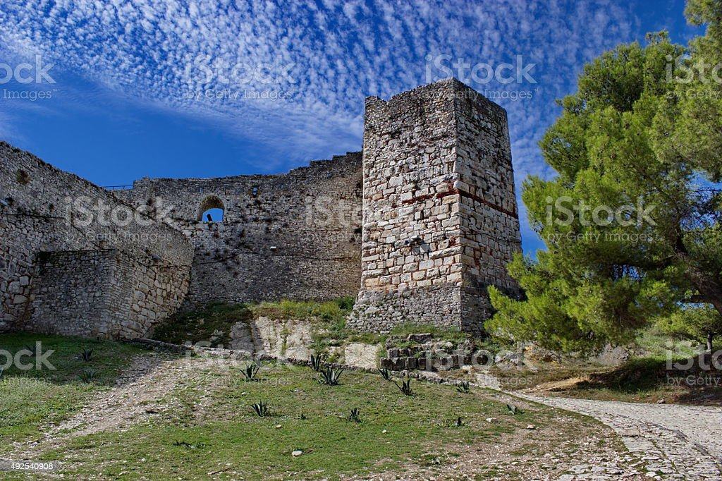 old fortress in Berat in summertime, Albania stock photo