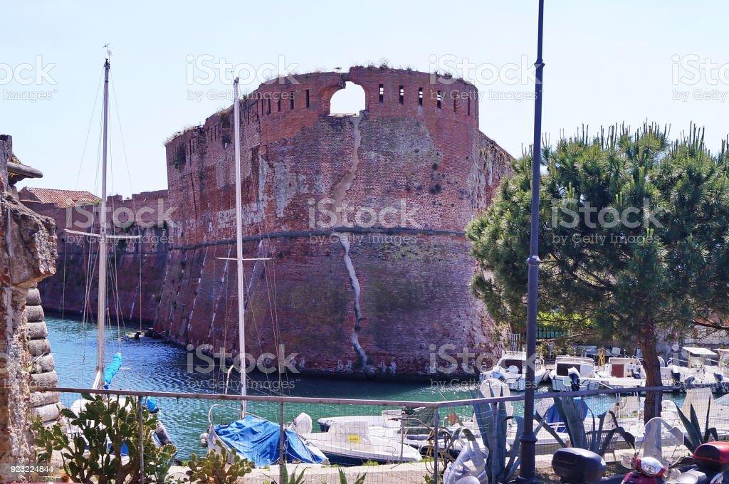 Old Fortress, Livorno stock photo
