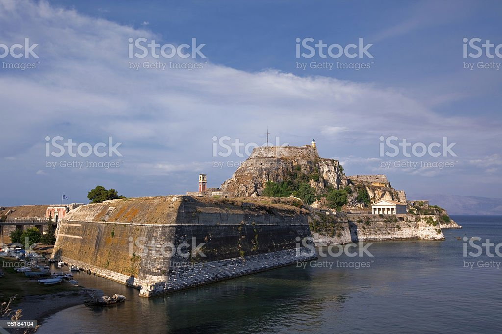 old fortress of Kerkira town royalty-free stock photo