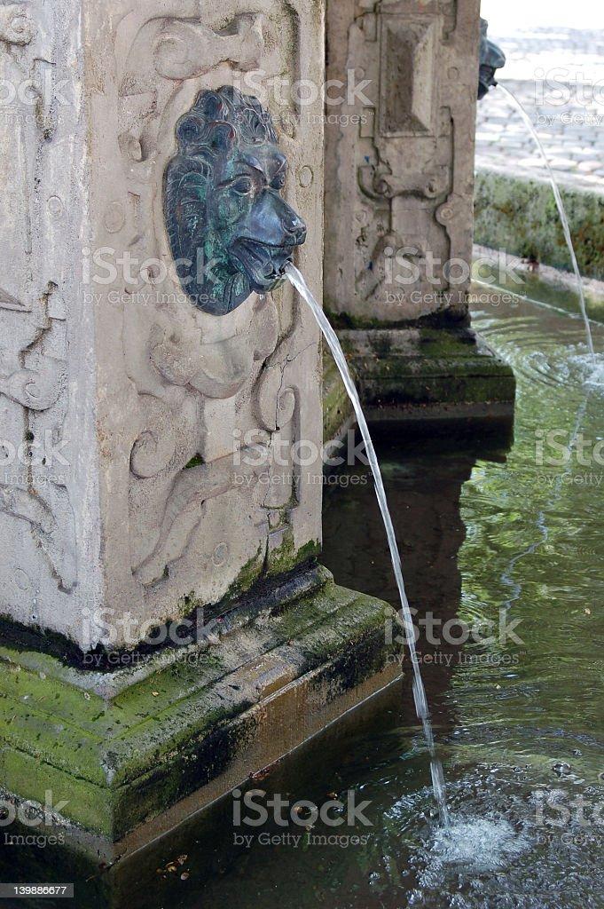 old fountain, detail stock photo