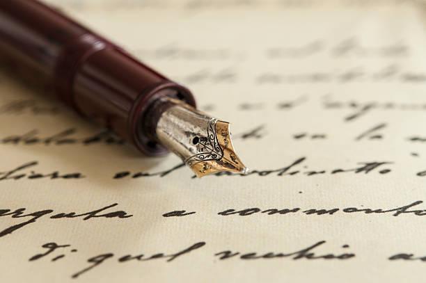Old fountain pen on manuscript picture id462569549?b=1&k=6&m=462569549&s=612x612&w=0&h=xvte0lqo ldwnww8rhpf0qmjluvziu6ouq3no01k66w=