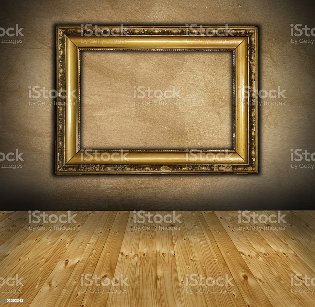 old frame in interior setting royalty-free stock photo
