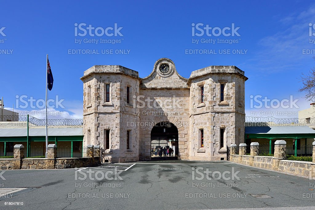 Old Fremantle Prison, Fremantle, Australia stock photo