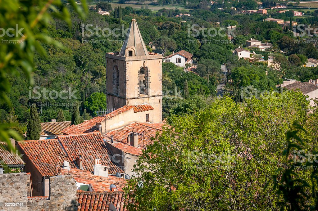 Old French Church stock photo
