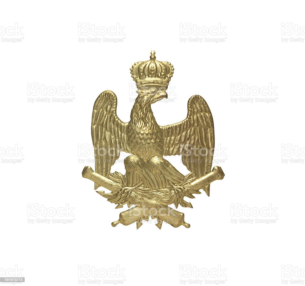 Old French Insignia stock photo