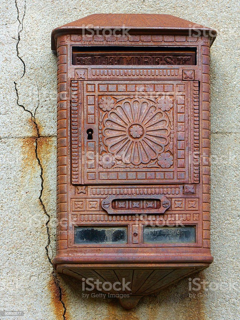 Old french mailbox royalty-free stock photo
