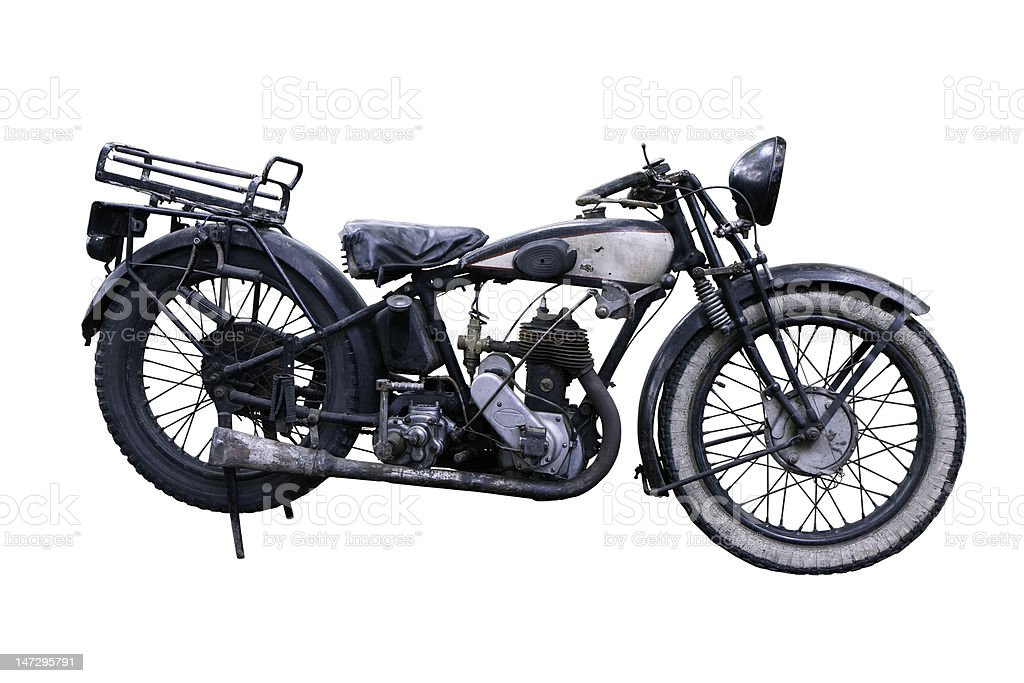 Old French motorbike royalty-free stock photo