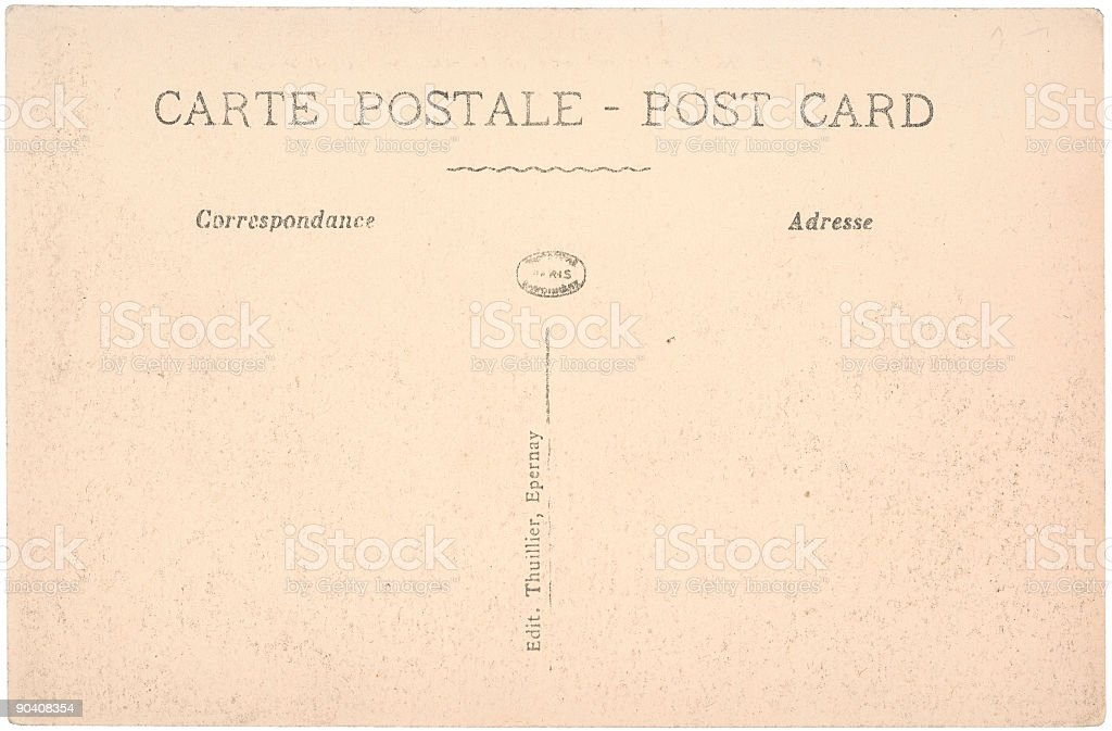 Old French Post Card royalty-free stock photo