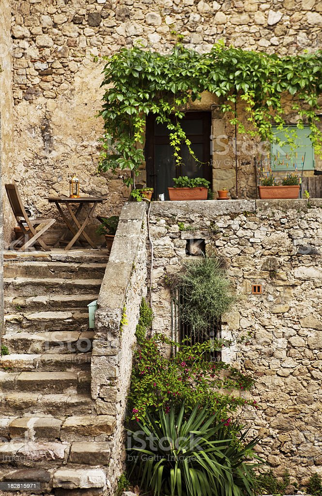 Old French restaurant royalty-free stock photo