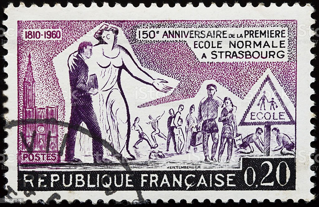 Old french stamp royalty-free stock photo