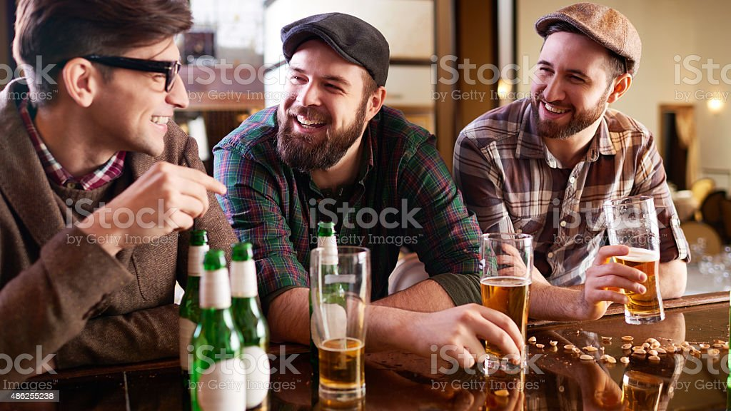 Old friends keep their traditions stock photo