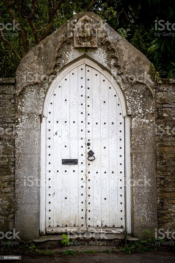 Old front door stock photo