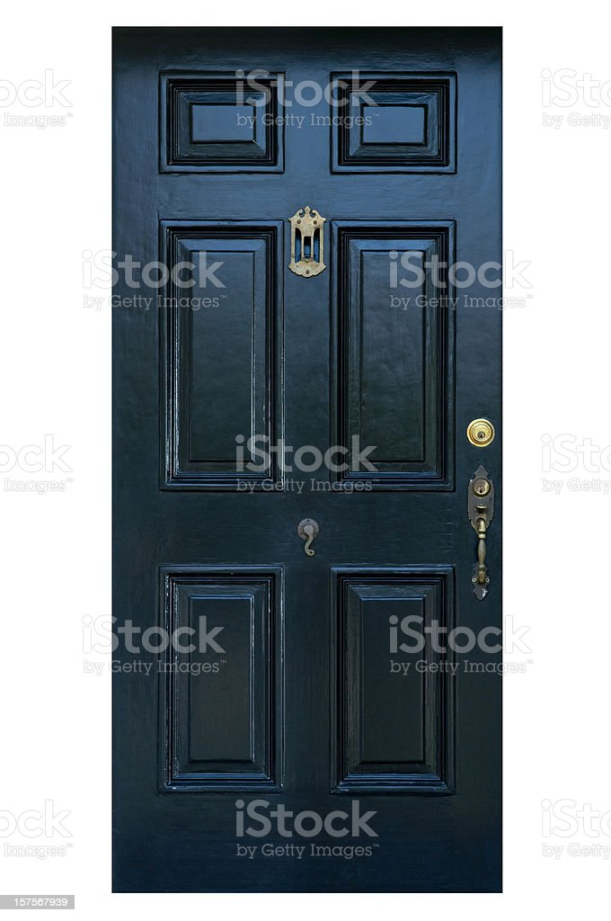 Old Front Door With Clipping Path stock photo