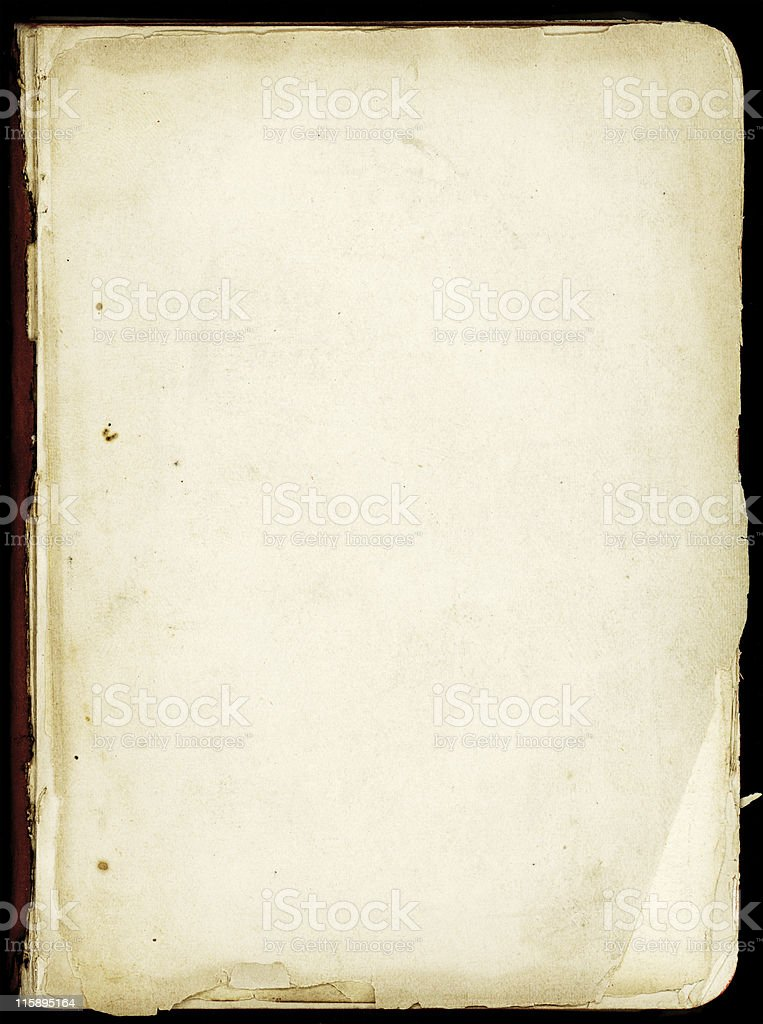 Old front page in a bible royalty-free stock photo