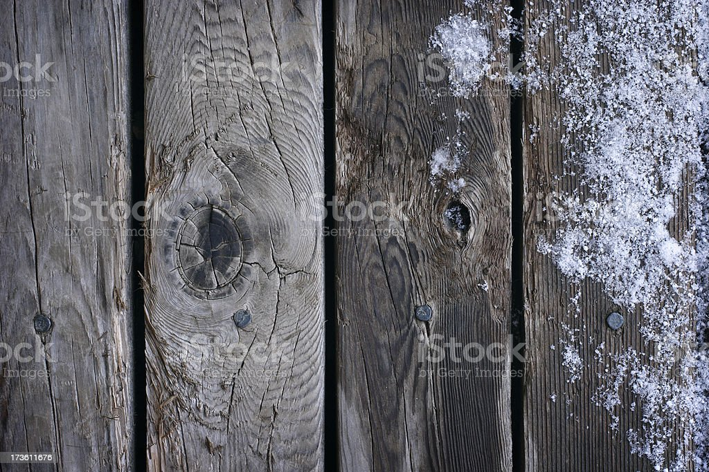 Old Frozen Boards - Background royalty-free stock photo