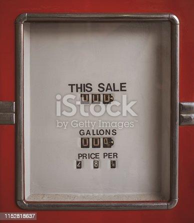 Old fuel dispenser - gasoline pump counter display