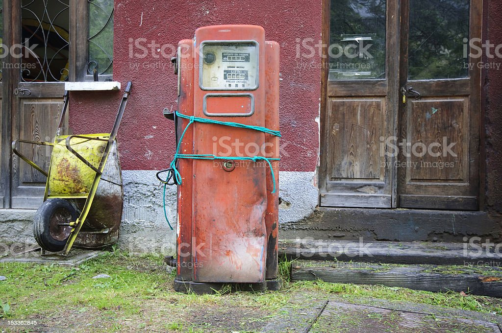 Old Fuel Pump royalty-free stock photo