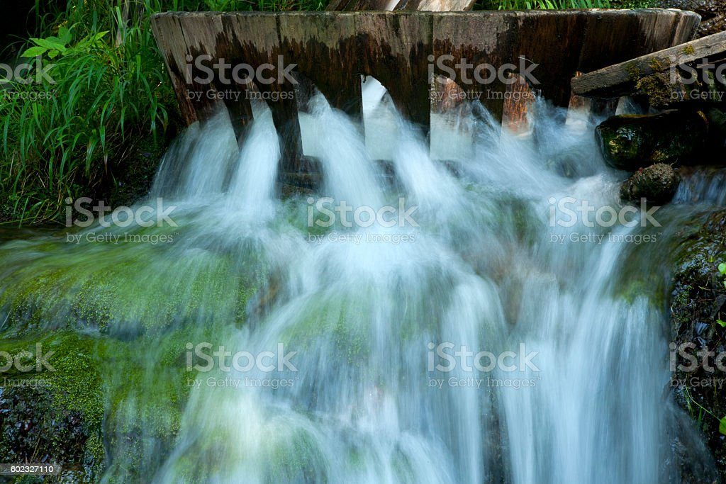 old fulling water for washing of carpets stock photo