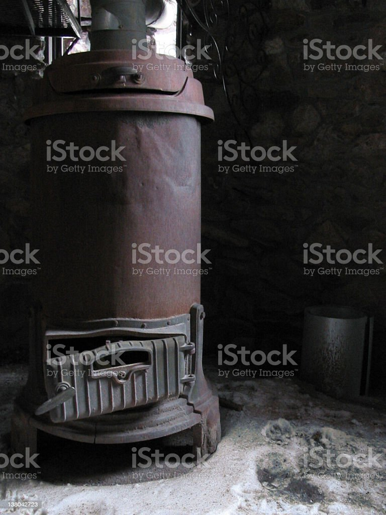 old furnace stock photo
