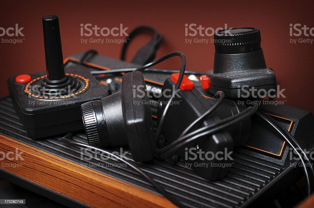 Old Game System stock photo