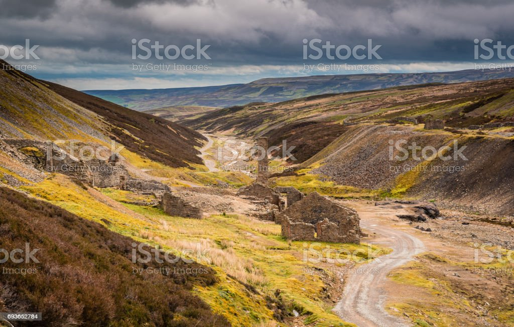 Old Gang Lead Smelting Mill stock photo