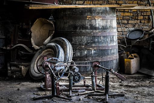 old garage equipment