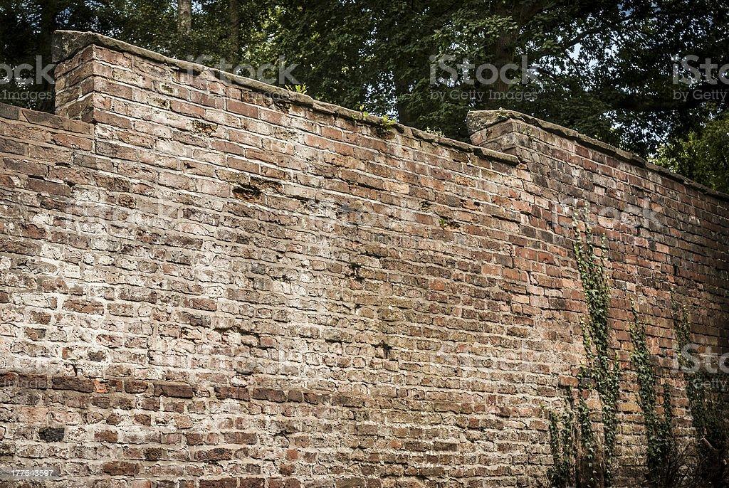 Old Garden Wall stock photo