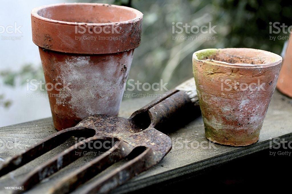 Old gardening stock photo