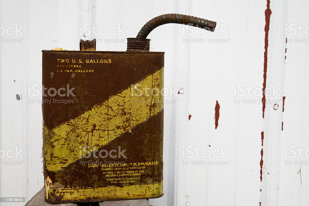 Old Gas Can royalty-free stock photo