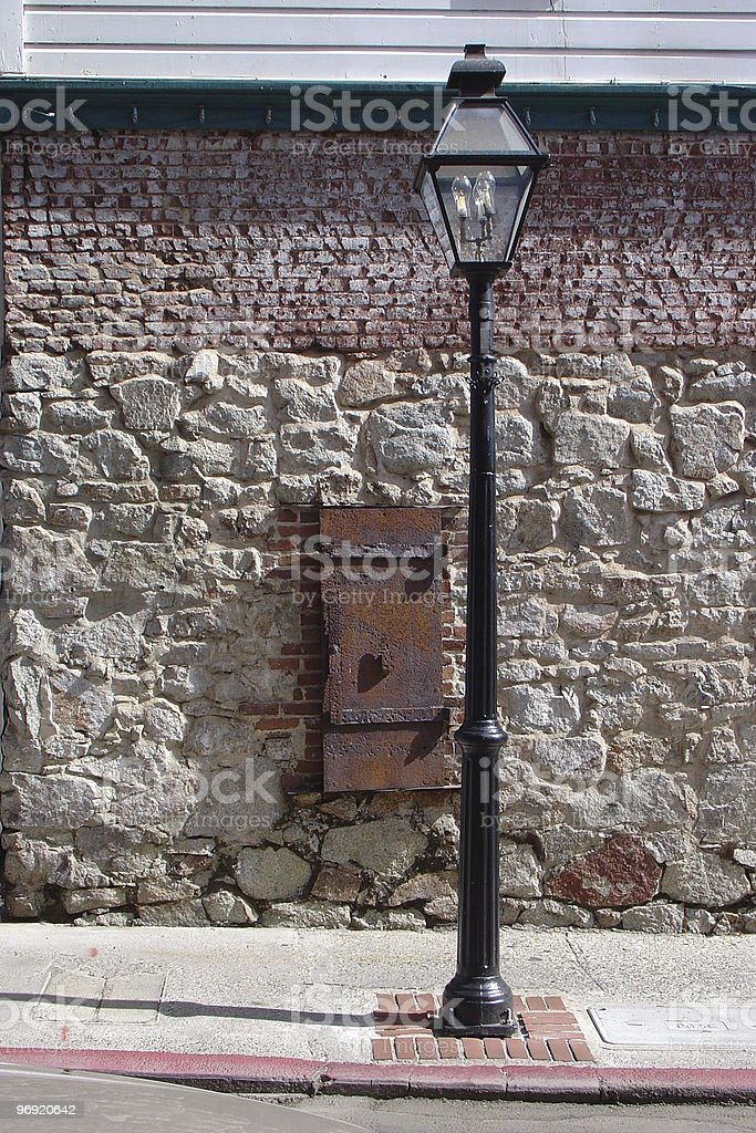 Old Gas Lamp royalty-free stock photo